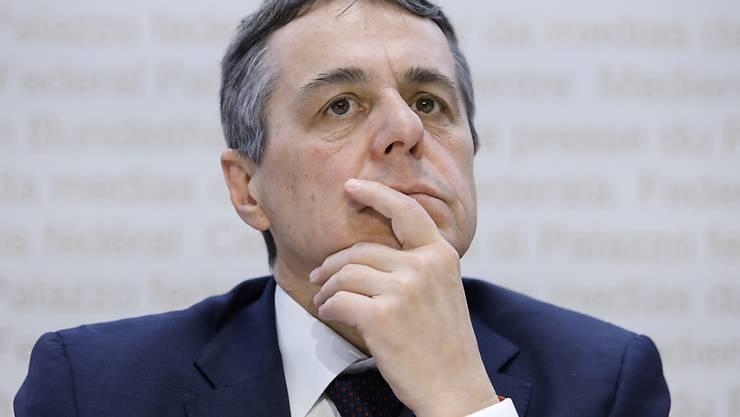 Bundesrat Ignazio Cassis hat sich vor dem Uno-Menschenrechtsrat am Montag in Genf für die Meinungsfreiheit stark gemacht. (Archiv)