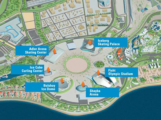 Und so ist der Olympia-Park aufgebaut.