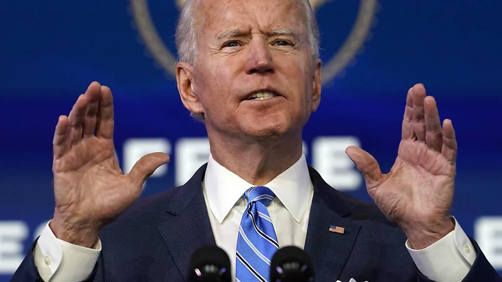 Joe Biden, designierter Präsident der USA, spricht bei einer Veranstaltung. Foto: Matt Slocum/AP/dpa