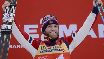 Triumph auf der Alpe Cermis: Martin Johnsrud Sundby gewann zum dritten Mal de suite die Tour de Ski