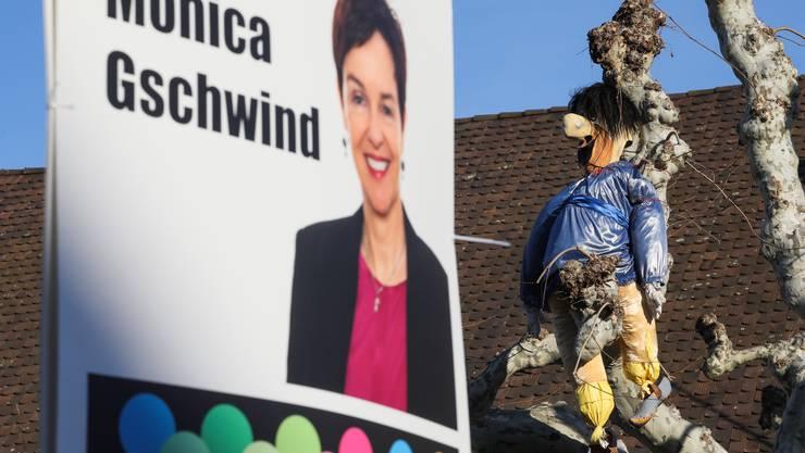 Monica Gschwind muss sich wohl einen Spruch über ihre Räpplis anhören.