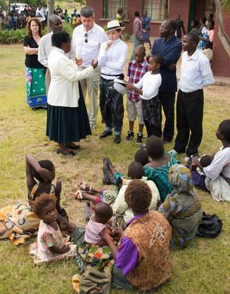 Madonna bei ihrem Besuch in Malawi vor wenigen Tagen