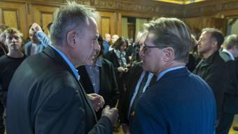 Klärungsbedarf nach einem gehässigen Abstimmungskampf: Hans-Peter Wessels (l.) und Gabriel Barell.