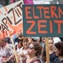 Demonstrierende am Frauenstreik 2019 in St. Gallen.