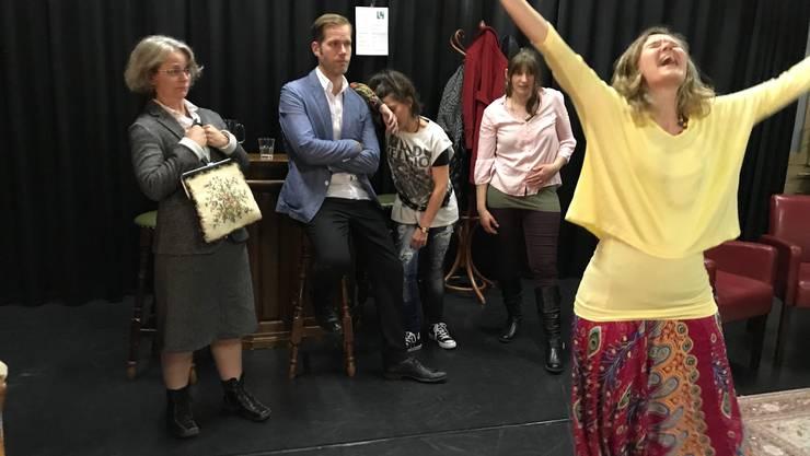 Von links: Priska Flury, Aleksandar Stojanovic, Marianna Koch, Stefanie Geiser,  Jacqueline Berger