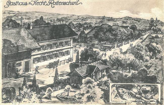 Gasthaus «Hecht» in Rottenschwil, 1923