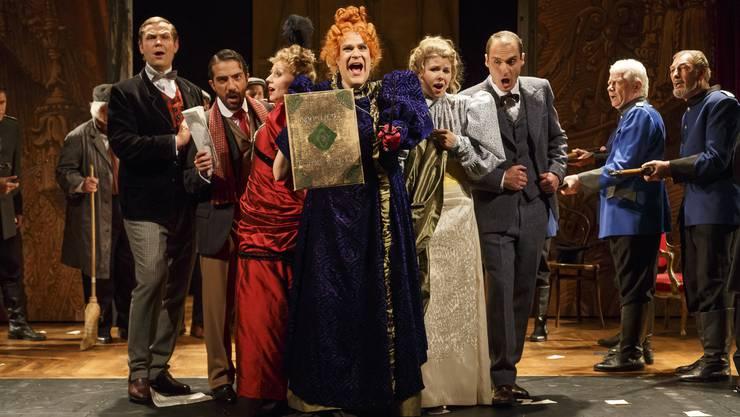 Szene aus der Oper «Viva la Mamma», das am Tobs aufgeführt wurde.