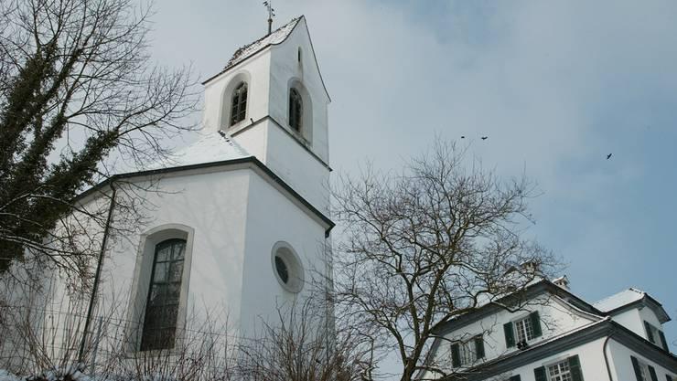 Stiftung Künstlerhaus Boswil, Alte Kirche Boswil fotografiert am 18. Februar in Boswil.
