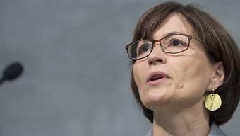 Grüne-Präsidentin und Nationalrätin Regula Rytz will die Europapolitik nicht den anderen Parteien überlassen. Die Delegierten diskutierten am Samstag in Freiburg intensiv über das Thema.