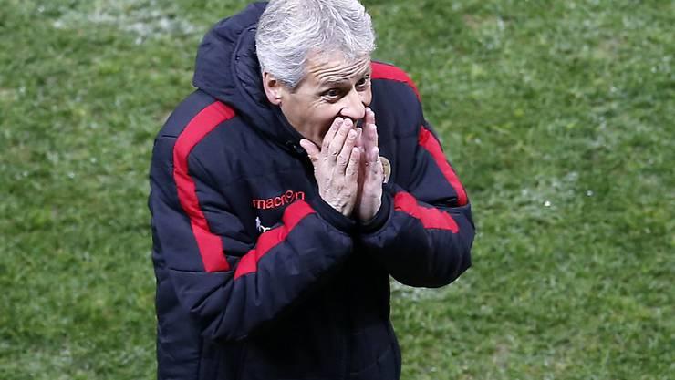 Für Lucien Favre und Nice lief im Heimspiel gegen Caen nicht alles nach Wunsch