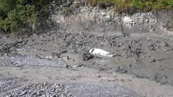 Das Flussbett des Losentse am Montag nach dem Unwetter.