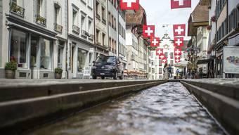 So wie hier in der Altstadt hätte der Stadtbach durch die Vordere Vorstadt fliessen können.