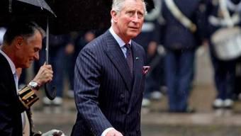 Prinz Charles steht im Regen - seiner Leidenschaft für Ökologie tut dies keinen Abbruch