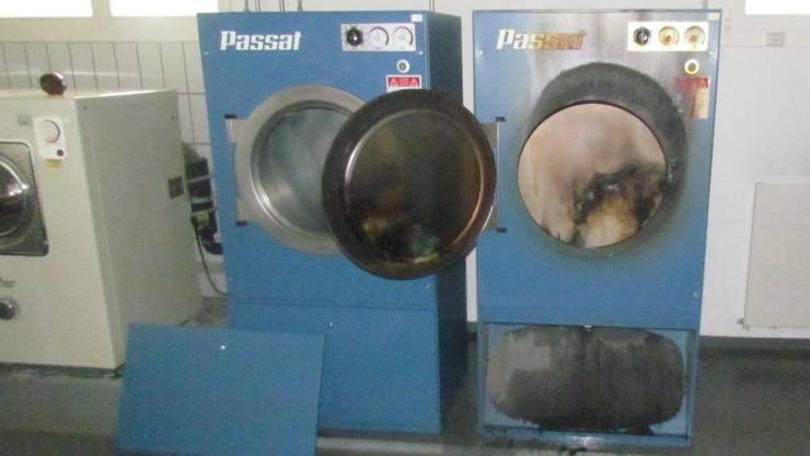 Beim Brand in der Waschküche entstand ein Sachschaden von 15'000 Franken