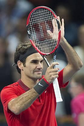 Roger Federer freut sich auf seinen elften Final in Basel.