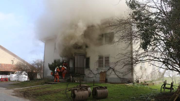 Bei dem Brand entstand ein Sachschaden von mehreren 100'000 Franken.