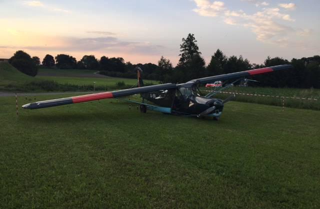 Mehrere zehntausend Franken Schaden entstanden am Flugzeug bei der Bruchlandung in Maur.