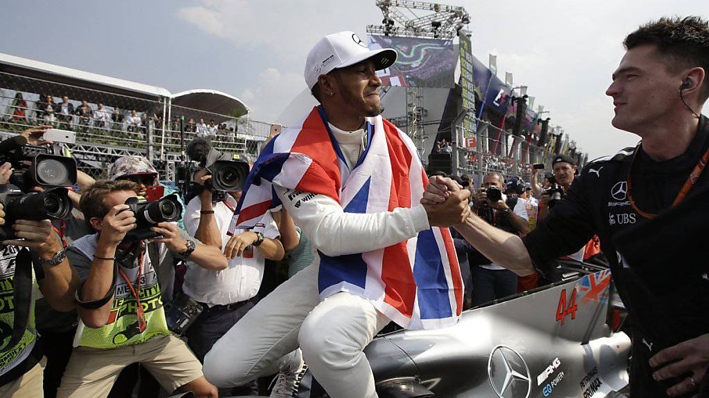 Zum vierten Mal Weltmeister: Lewis Hamilton