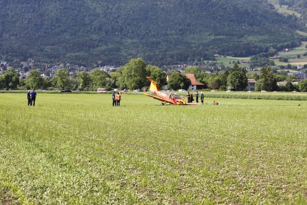 Das Flugzeug stürzte beim Starten ab