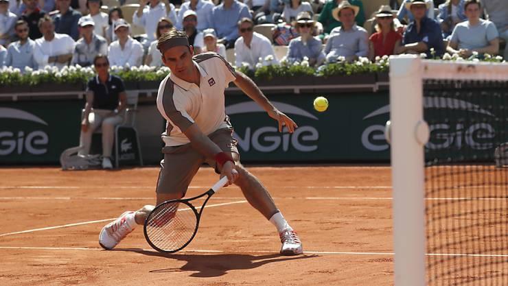 Roger Federer zog ohne Satzverlust in die Achtelfinals ein