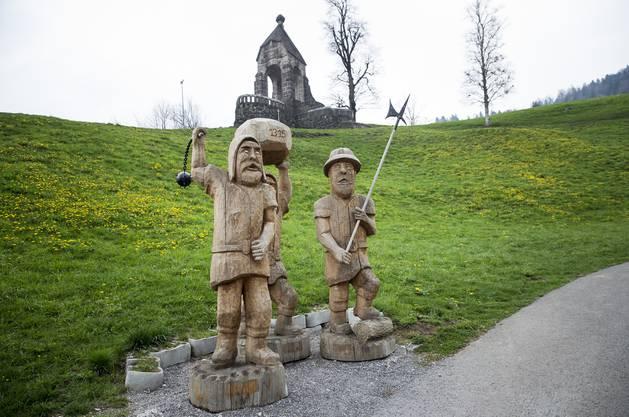Das Denkmal der Schlacht am Morgarten.