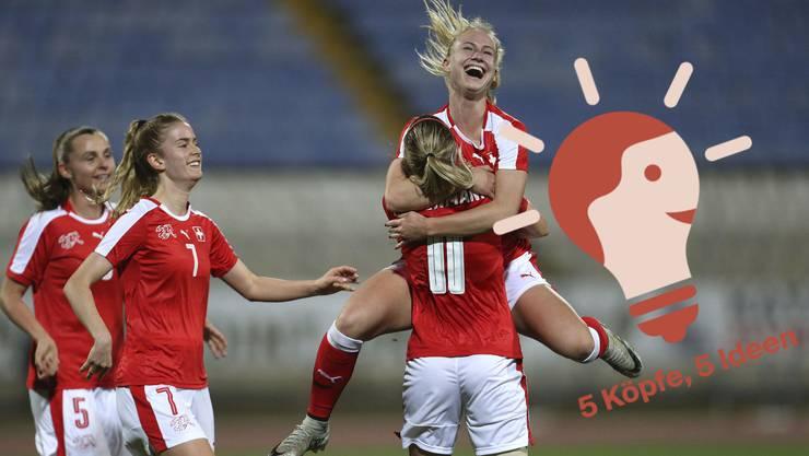 Die Schweizer Fussballerinnen sollen auch in Zukunft mit Freude Spiele bestreiten.