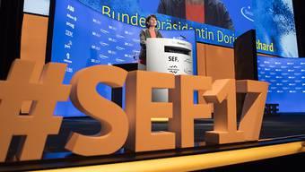 Die Eröffnungsrede von Bundespräsidentin Doris Leuthard am 19. Swiss Economic Forum SEF war ein Plädoyer für eine offene Schweiz, Freihandel und Digitalisierung.