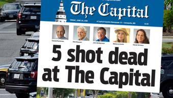 Bei einer Schiesserei auf der Redaktion der «Capital Gazette» nahe Washington DC wurden fünf Menschen getötet. Der Täter wurde identifiziert.