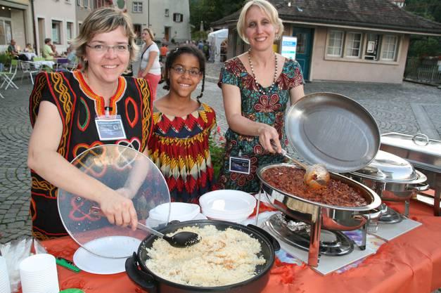 Auch diese Damen brachten einen Hauch von Afrika in die Kulturnacht.