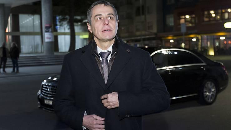 Cassis zu Verhandlungen mit der EU: Der Aussenminister will den richtigen Ansprechpartner finden. (Archiv)