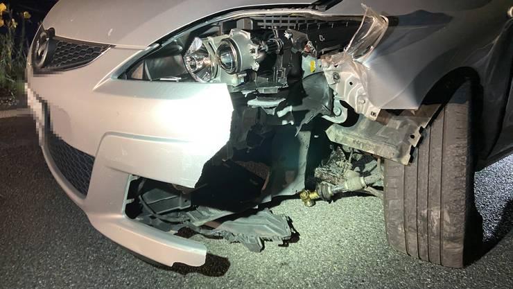 Der Schaden am Auto war beträchtlich.