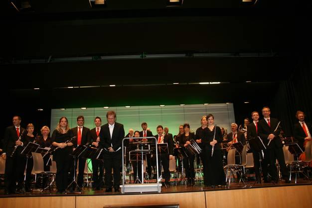 Das 50-köpfige Blasorchester Gebenstorf präsentierte sich am Neujahrskonzert in Bestform.