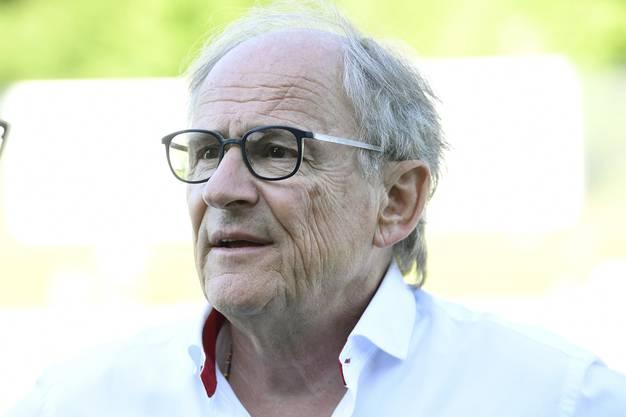 Badens Präsident Heinz Gassmann, dem der Verein viel zu verdanken hat, muss erneut einen Nichtaufstieg seines FC Baden verkraften.
