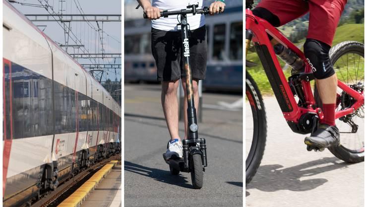 Ob mit Zug, Trottinett oder E-Bike: Jetzt gibt es ein neues Angebot.