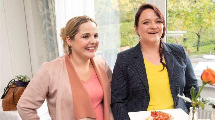 Die SVP-Delegation im Nationalrat wird weiblicher: Martina Bircher (links) ist gewählt. Stefanie Heimgartner dürfte nachrücken.