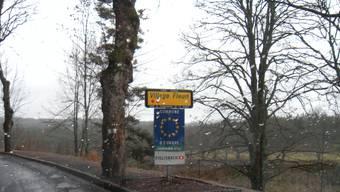 Ortseingang von der Partnergemeinde Chambon sur Lignon in Frankreich