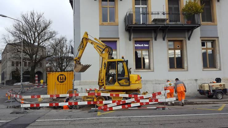 Die Bauarbeiten laufen seit dem 20. November