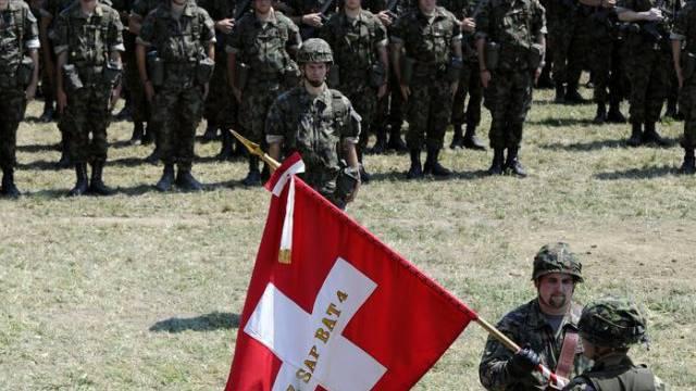 Ein Panzerbataillon der Schweizer Armee (Archiv)