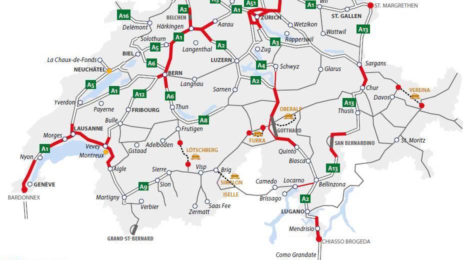 Verkehrsprognosen für das Wochenende