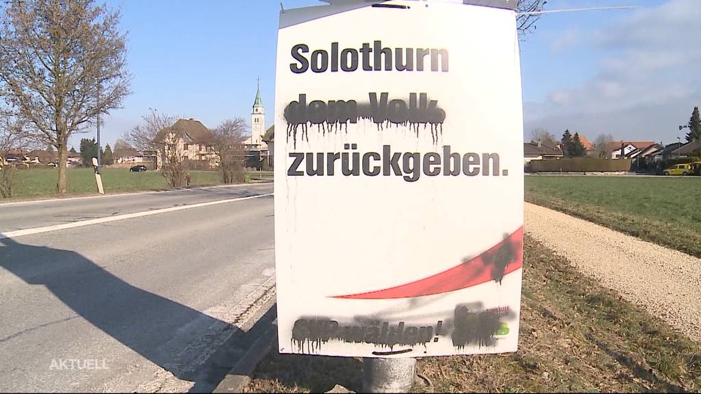 Im Kanton Solothurn verschwanden 100 SVP-Wahlplakate oder wurden zerstört