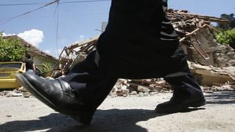 Ein Erdbeben der Stärke 4,6 richtet im Westen Griechenlands Zerstörung an (Archiv)