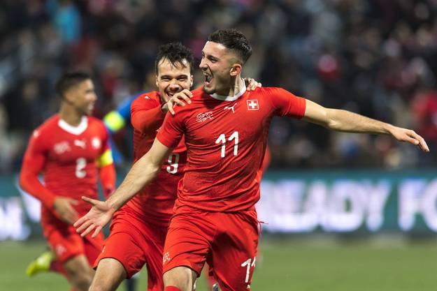 Andi Zeqiri traf für die Schweizer U21 doppelt gegen Frankreich und ist seitdem auch bei anderen Clubs heiss begehrt.