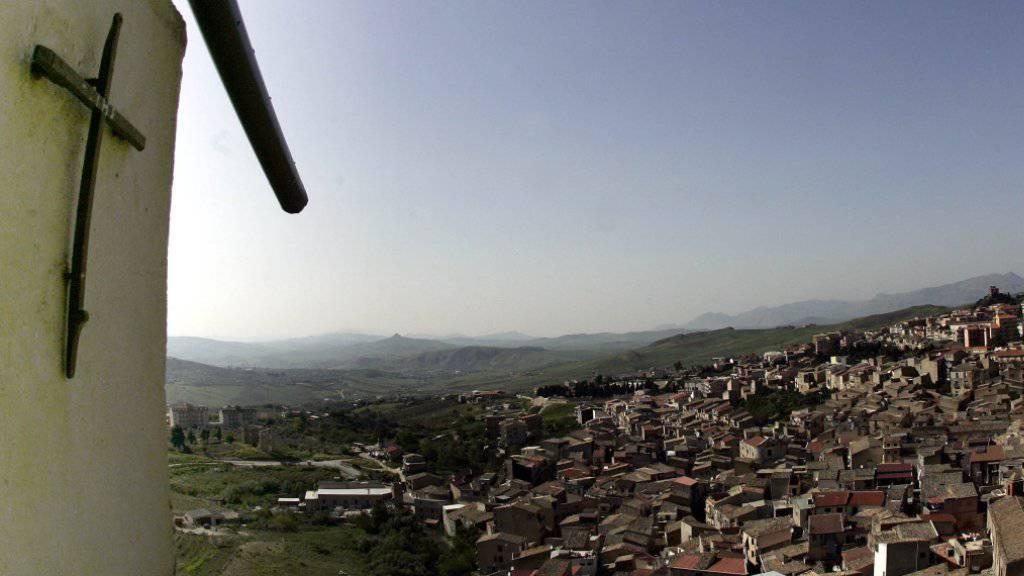 Blick auf den sizilianischen Ort Corleone, nach dem der Film-«Pate» von Francis Ford Coppola benannt wurde