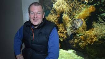 Thomas Jermann inszeniert die Unterwasserwelt im Aquarium. Wichtig ist ihm, dass jedes Schaubecken eine Geschichte erzählt und die Lebewesen darin füreinander da sind.