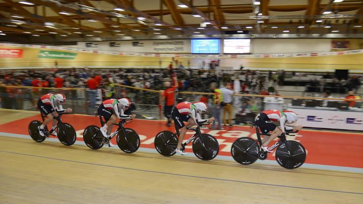 Das Schweizer Team an der Bahn-EM