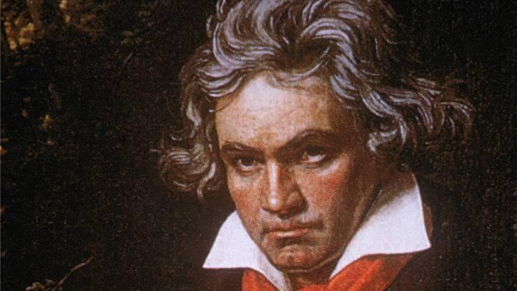 Beethoven beim Komponieren. Getty