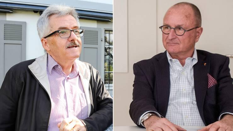 Das Papier ist offenbar das Ergebnis von Gesprächen zwischen SVP-Chef Oskar Kämpfer und Paul Hofer (vlnr.)