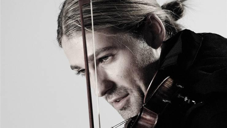 Geigenstar David Garrett bei der Arbeit. ZVG