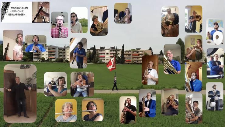 Screenshot aus dem Youtube-Video der Harmonie Gerlafingen
