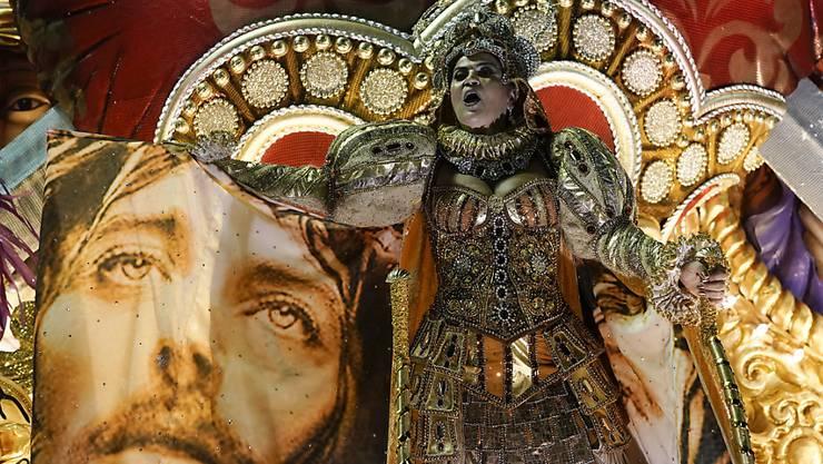 Weckte den Unmut von Brasiliens Präsident Bolsonaro: Die Vorstellung der Sambaschule Mangueira mit der Darstellung von Jesus Christus.